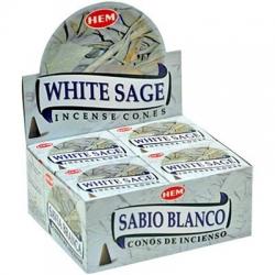 HEM Wierook Kegel White Sage (12 pakjes)