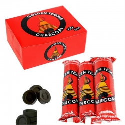 10 rolls of Golden Temple charcoal tablets 33 mm