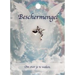 Angel pin engel met hartje - Beschermengel
