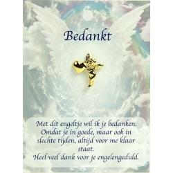 Angel pin guardian angel-thanks (gold)