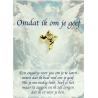 Angel pin engel met hartje - Omdat ik om je geef (gold)