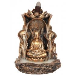 Bronskleurig Boeddha Backflow wierookbrander
