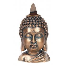 Bronskleurig Boeddha Hoofd Backflow wierookbrander