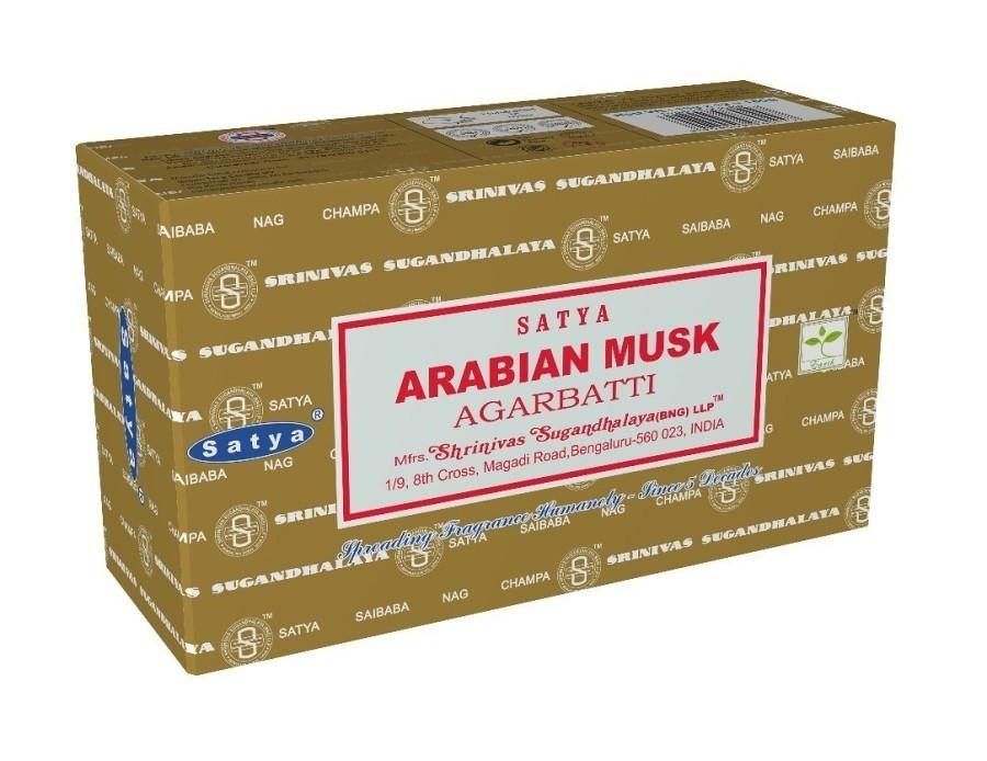 12 pakjes Arabian Musk wierook (Satya GT)