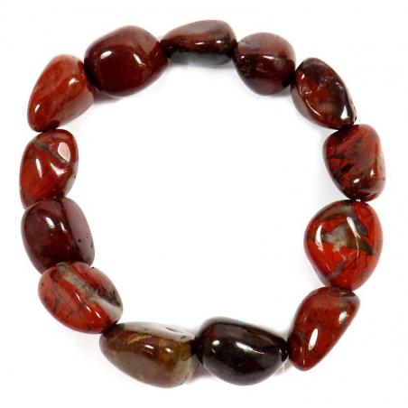 Jasper bracelet (tumbled stones) A