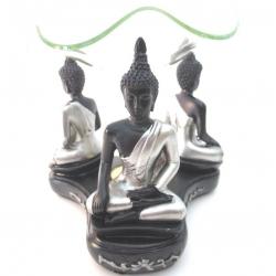 Thai Buddha oliebrander (zilver/zwart)
