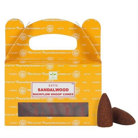 Sandelwood Backflow incense cone (Satya)