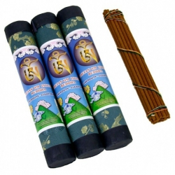 """Buddha"" Tibetan incense OHM in luxurious Brocade makers"