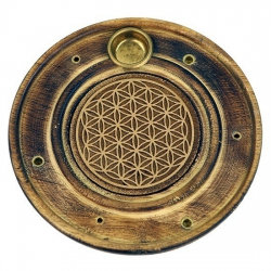 Wierook brander flower of life