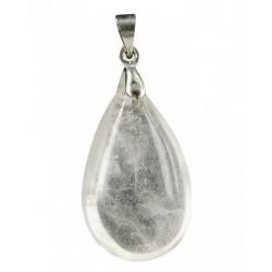 Druppelvorm edelsteenhanger - Bergkristal