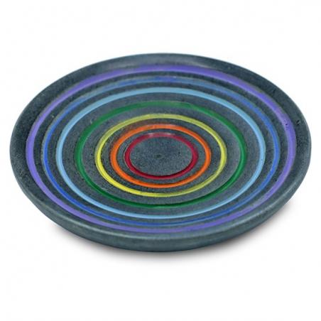 Incense Burner Rainbow (gray soapstone)