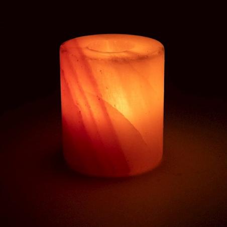 Salt crystal atmospheric light cylinder