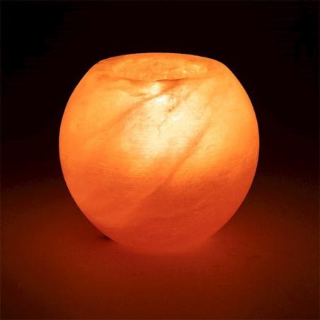 Salt crystal atmospheric light globe