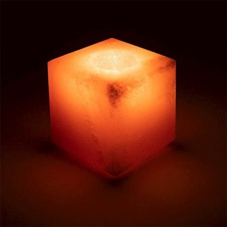 Zoutkristal sfeerlicht kubus
