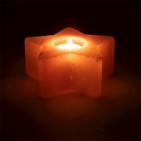 Lumière d'ambiance en cristal de sel étoile