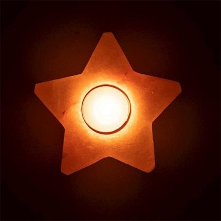 Zoutkristal sfeerlicht ster