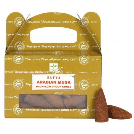 Arabian Musk Backflow incense cone (Satya)