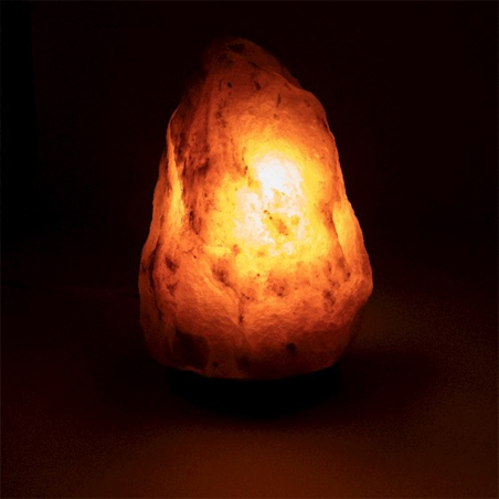 Salt lamp Gray with wooden base 2 - 3 kg