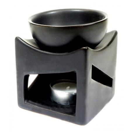Oliebrander zwart met geluksmunt