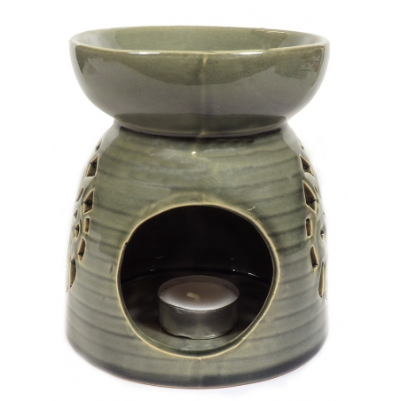 Oil burner gray with ornament
