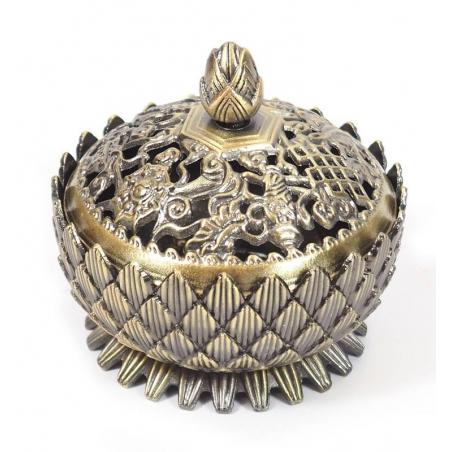 Incense burner Lotus bronze colored (6cm)