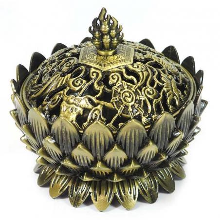 Wierookbrander Lotus bronskleurig (9cm)