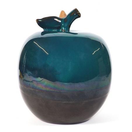 Apple shape Backflow incense burner moss green 2
