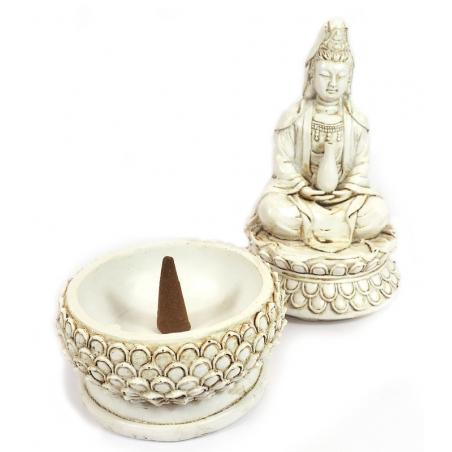 Incense burner Kwan Yin (white)
