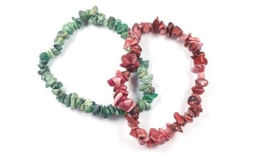 bracelet en pierre à copeaux