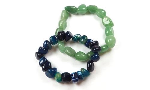 Tumbled stone bracelet